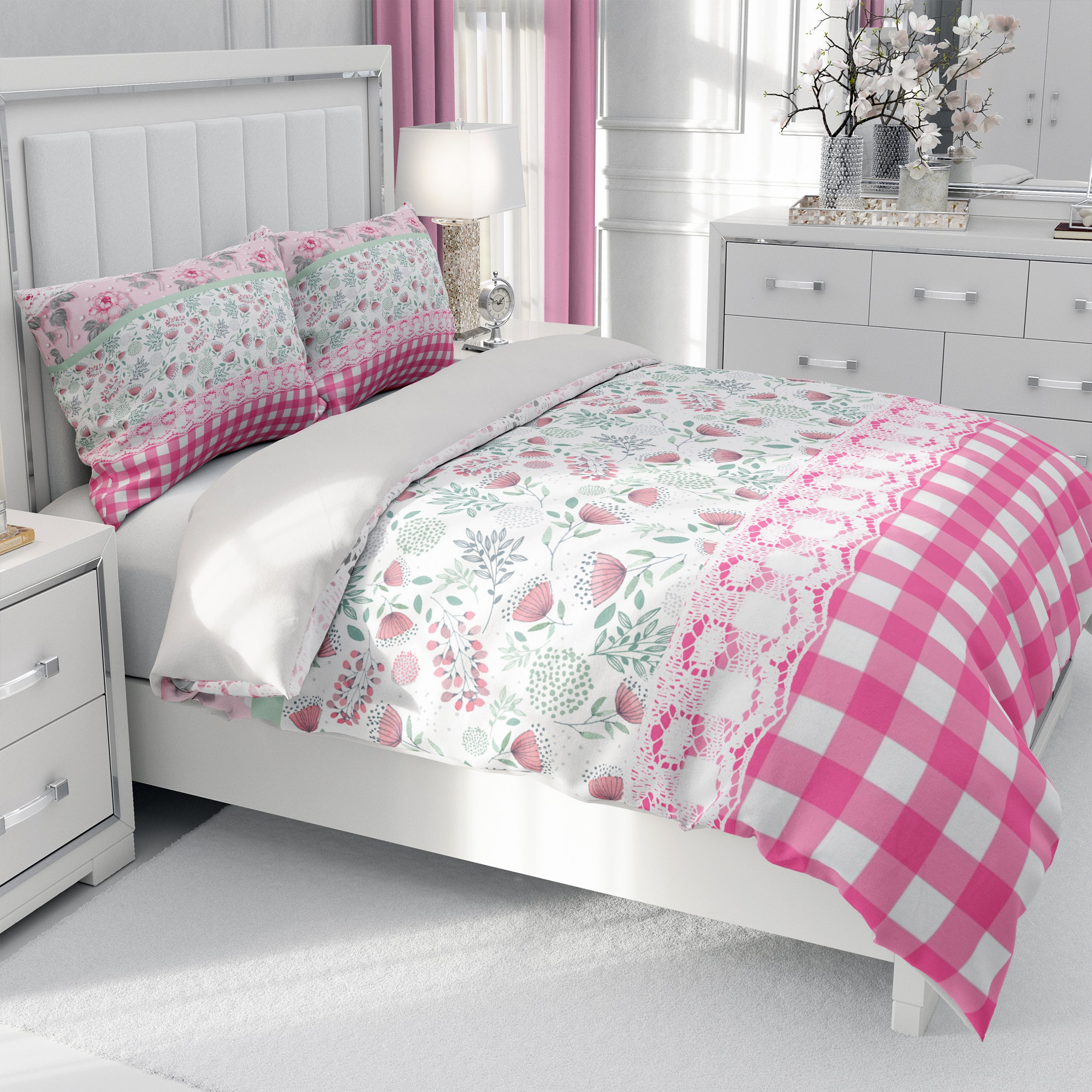 Granny Chic Pink Floral Bedding