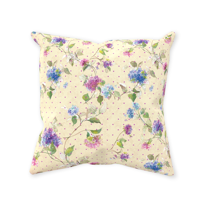 Vintage Floral Throw Pillows
