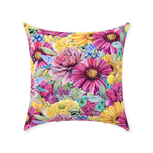 Boho Floral Throw Pillows