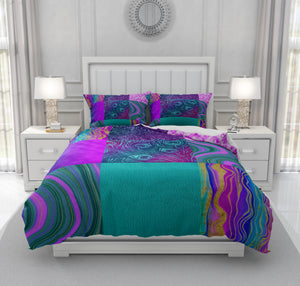 Purple Peacock Bedding