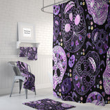 The Black and Purple Pattern Sugar Skull Shower Curtain