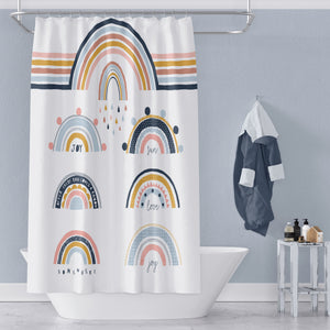 Modern Rainbow Shower Curtain Bath Towel Bath Mat Build a Set
