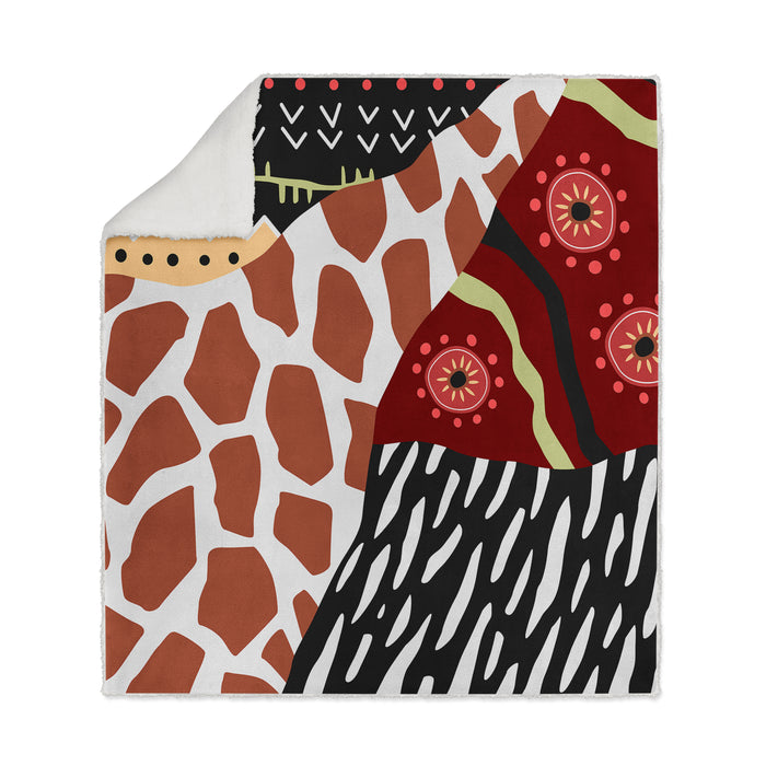 Retro Tribal Pattern Fleece Blanket