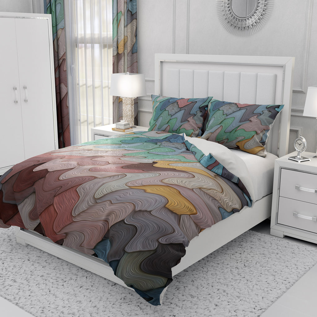 Beach Sand Abstract Bedding Set