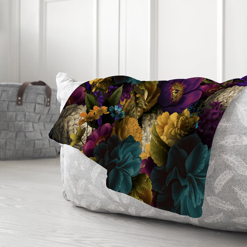 Romantic Floral Sherpa Blanket