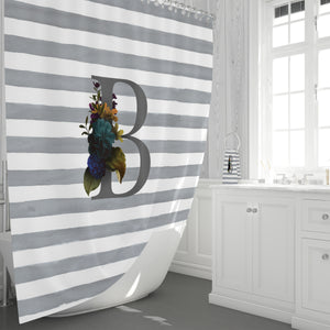 Custom Monogram Shower Curtain