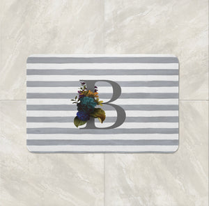 Personalized Monogram bath mat