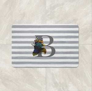 Custom Monogram bath mat