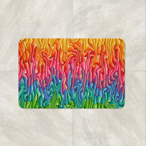Boul Soul Shower Curtain, Bath Mat ,Towels , Melting Wax Design
