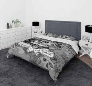 always kiss me goodnight bedding with skulls