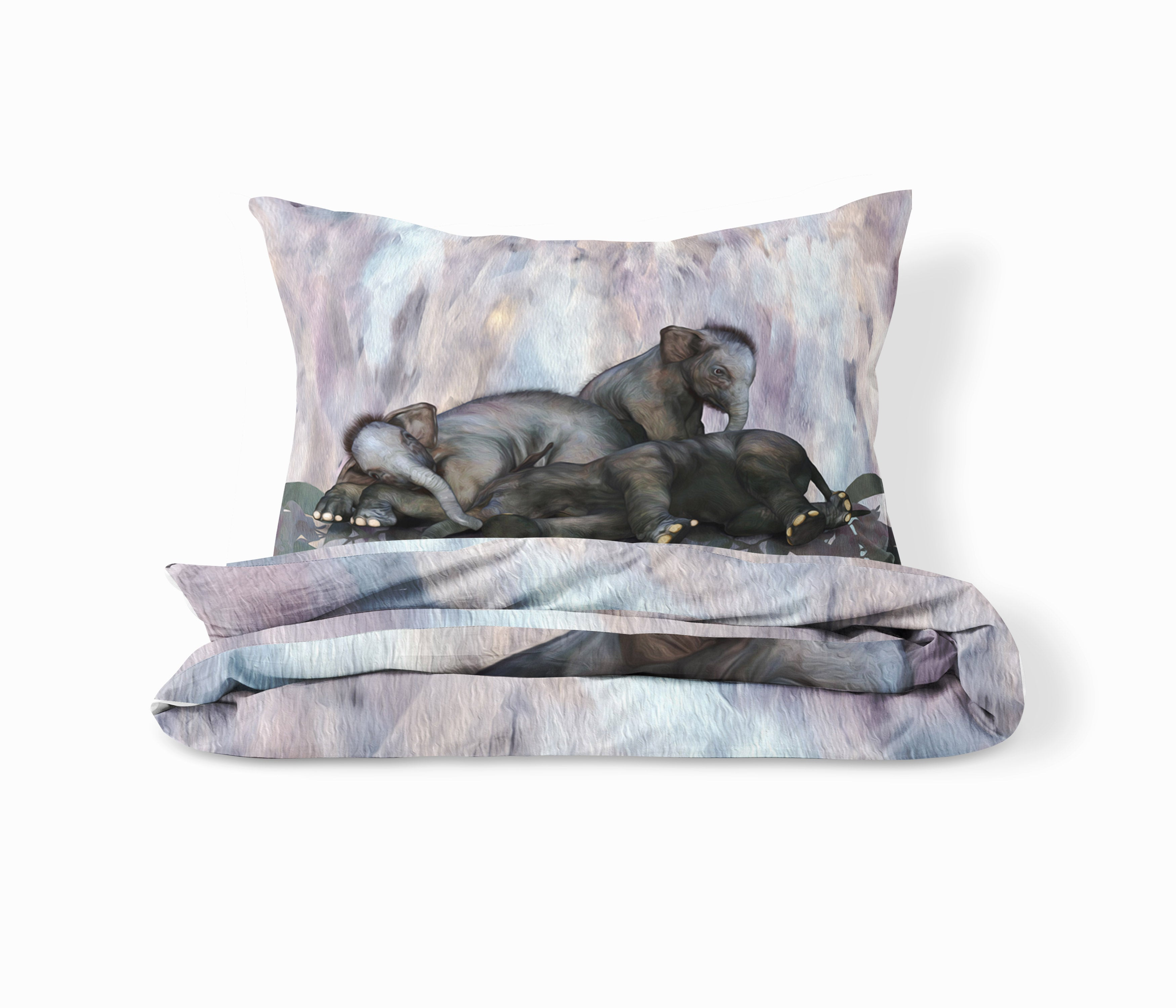 Sleepy Elephant Bedding Set