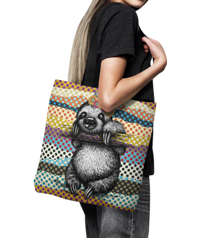 "Royal Sloth Canvas Tote Bag 18"" Oversized Shopping Bag"