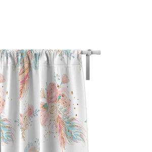 Boho Floral Window Curtains
