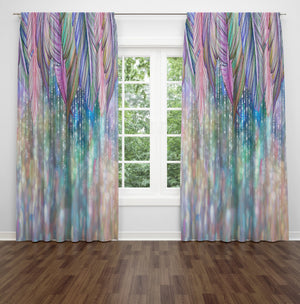 Boho Soul Pastel Window Curtains