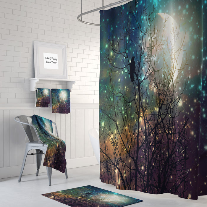 Crow Twilight Shower Curtain