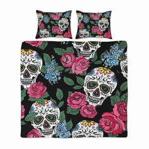 Floral Sugar Skull Bedding
