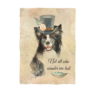 Steampunk Collie Fleece Blanket