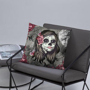 La Rosa Sugar Skull Pillow