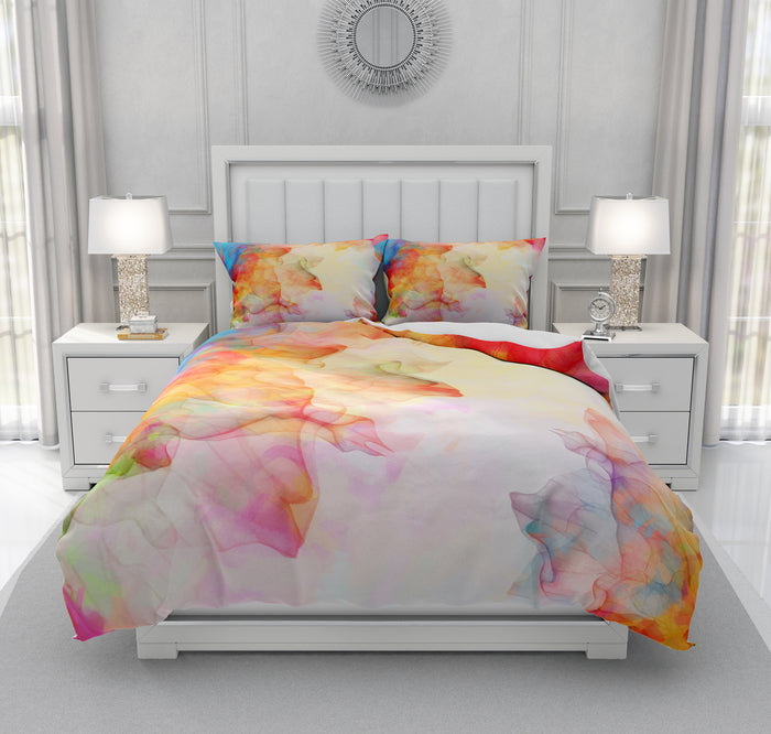 Watercolor Flower Boho Chic Summer Breeze Bedding