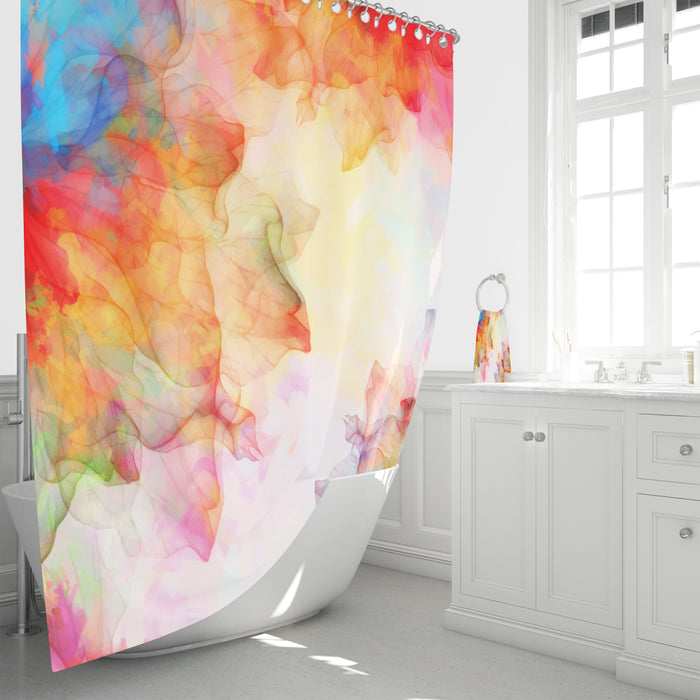Boho Watercolor Shower Curtain