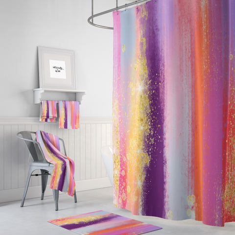 Shower Curtain, Brush Strokes Abstract