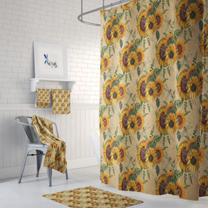 Country Sunflower Shower Curtain Bath Towel Bath Mat Build a Set