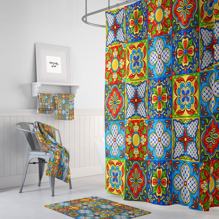 Talavera Tiles Shower Curtain