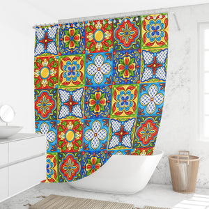 Talavera Shower Curtain, Festival Of Color