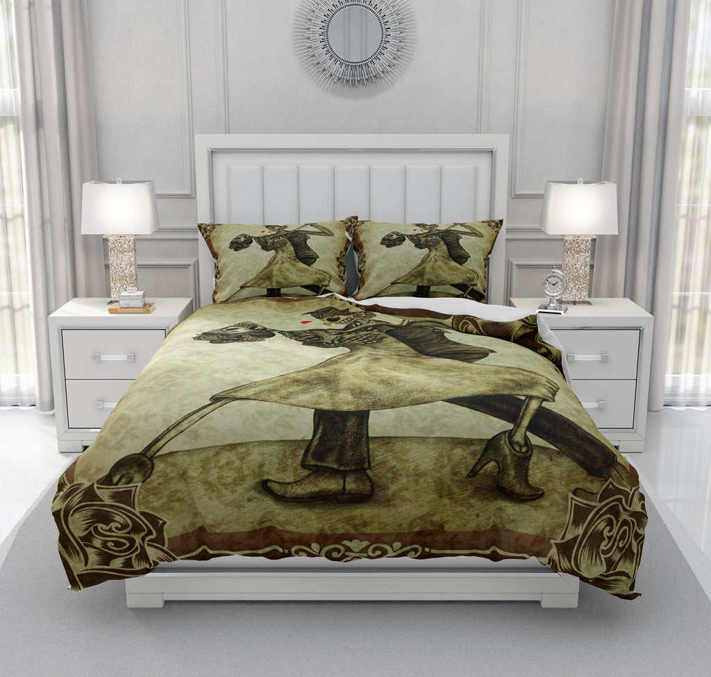 Grunge Skull Couple The Dance Bedding