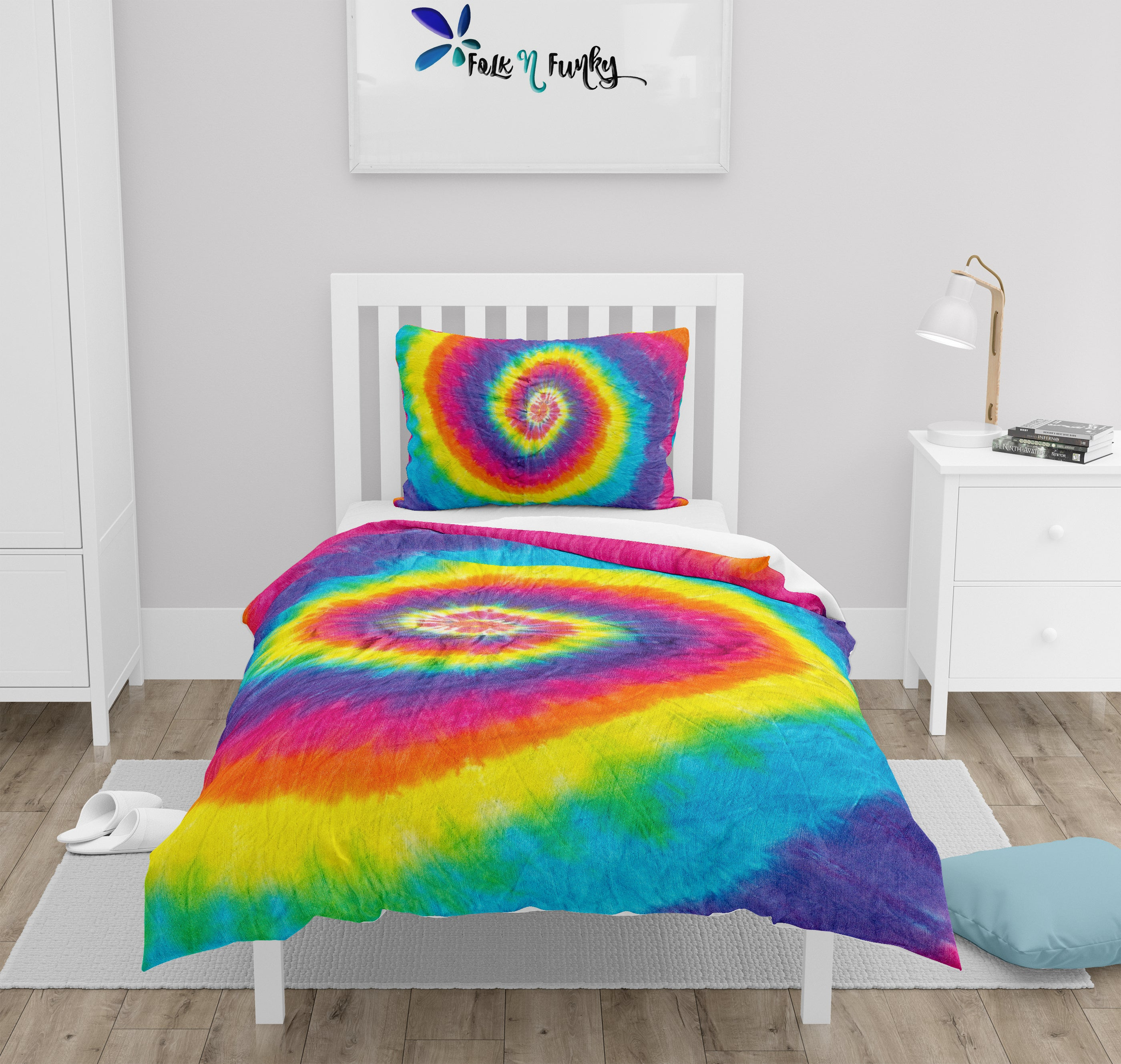 Tie Dye Bedding Set Comforter or Duvet Cover, Twin, Full, Queen, King,