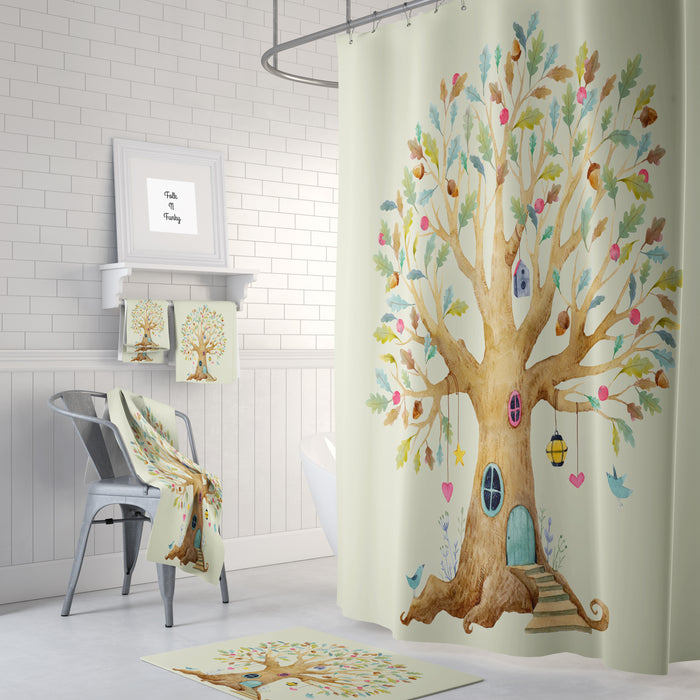 The Tree House Dreams Shower Curtain