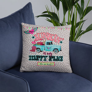 Retro Truck Throw Pillow, Fleamarket Road Trip, Kitsch Pillows
