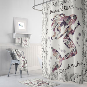 Mermaid Kisses Shower Curtain Bathroom Set