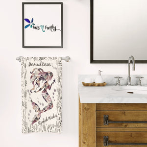 Mermaid Kisses Shower Curtain Bathrom Set