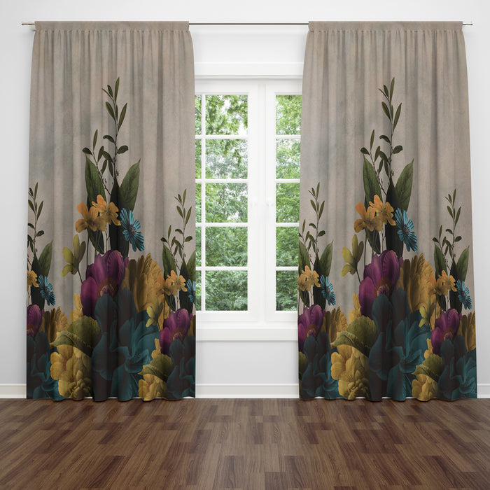Melancholy Garden Window Curtains, Valance