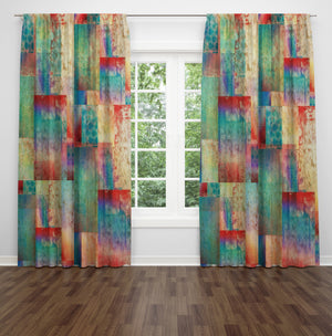 "Gypsy Boho Window Curtains ""Sundown"""
