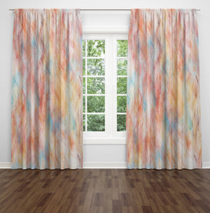 Watercolor Whispers Window Curtains