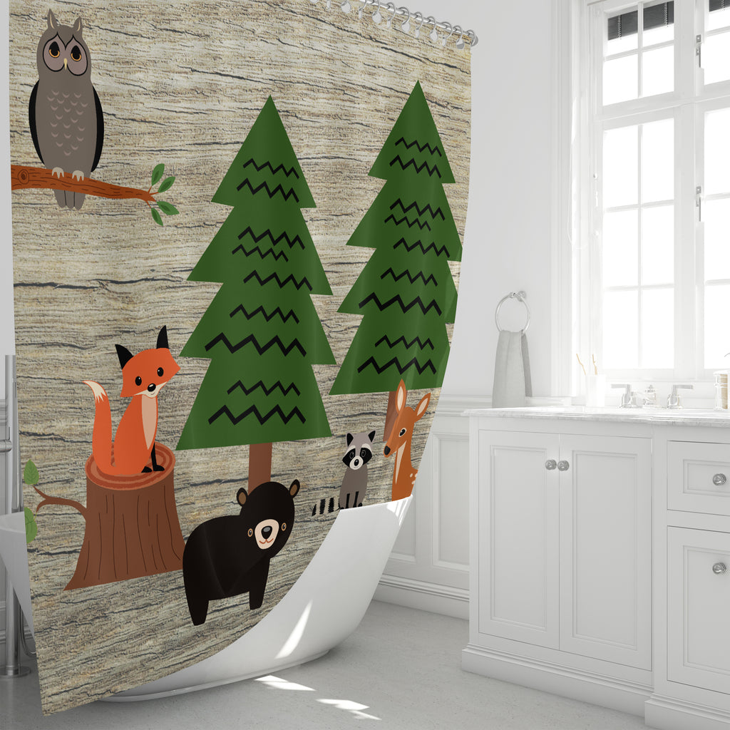 Woodland Shower Curtain Bathroom Set
