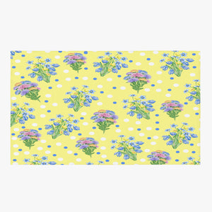 Yellow Frontier Floral Rug