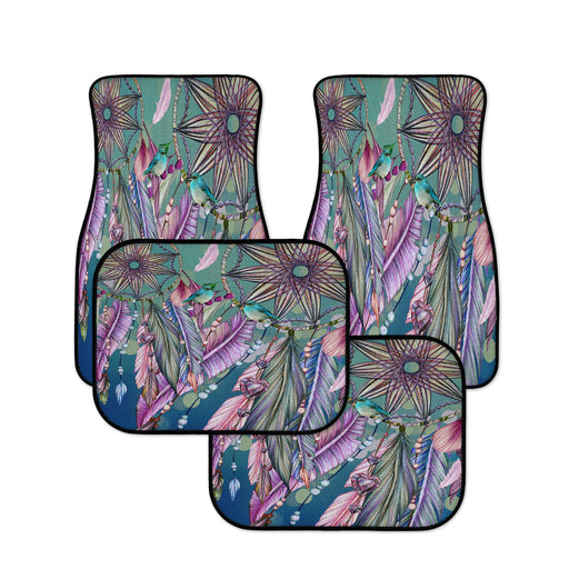 Boho Feather Dreams Bird Car Mats