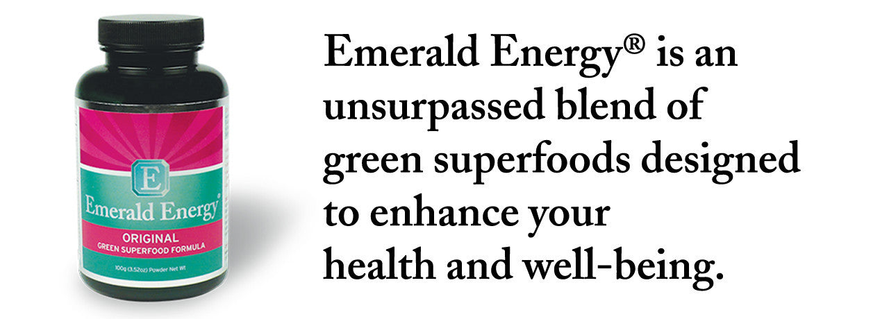 Emerald Energy® is an unsurpassed blend of green superfoods designed to enhance your health and well-being.