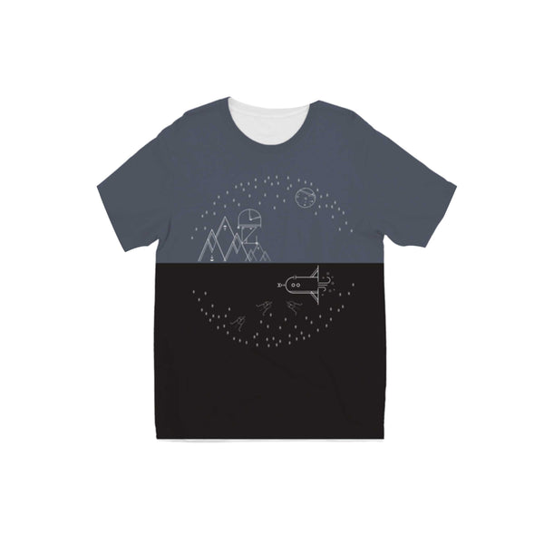 KIDS TWO TONED SPACE T-SHIRT
