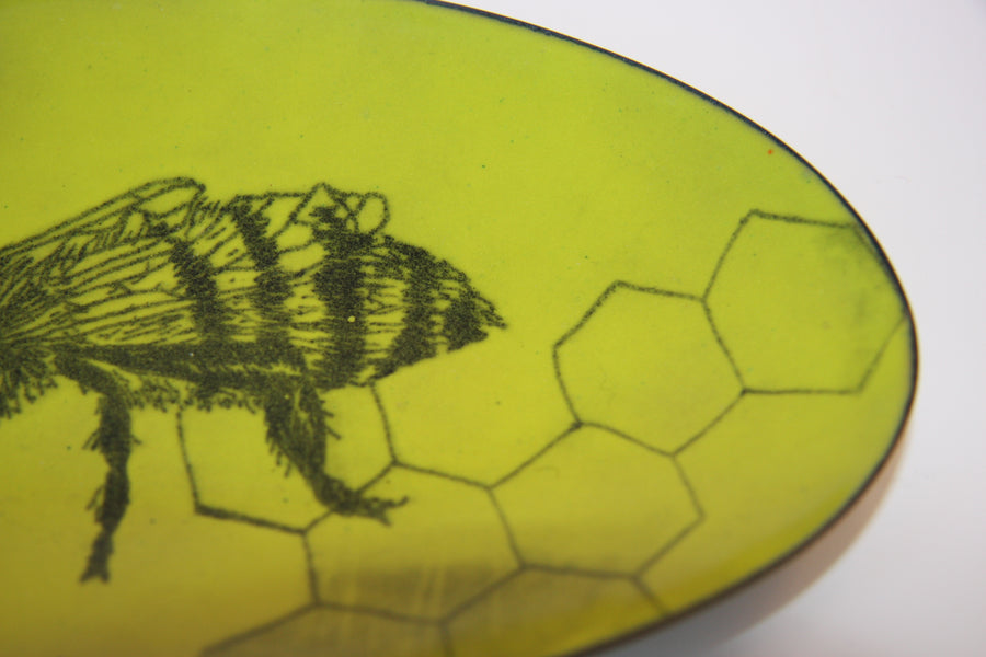 Glass Enamel Bowl with Enamel Bee image from alishamerrickart