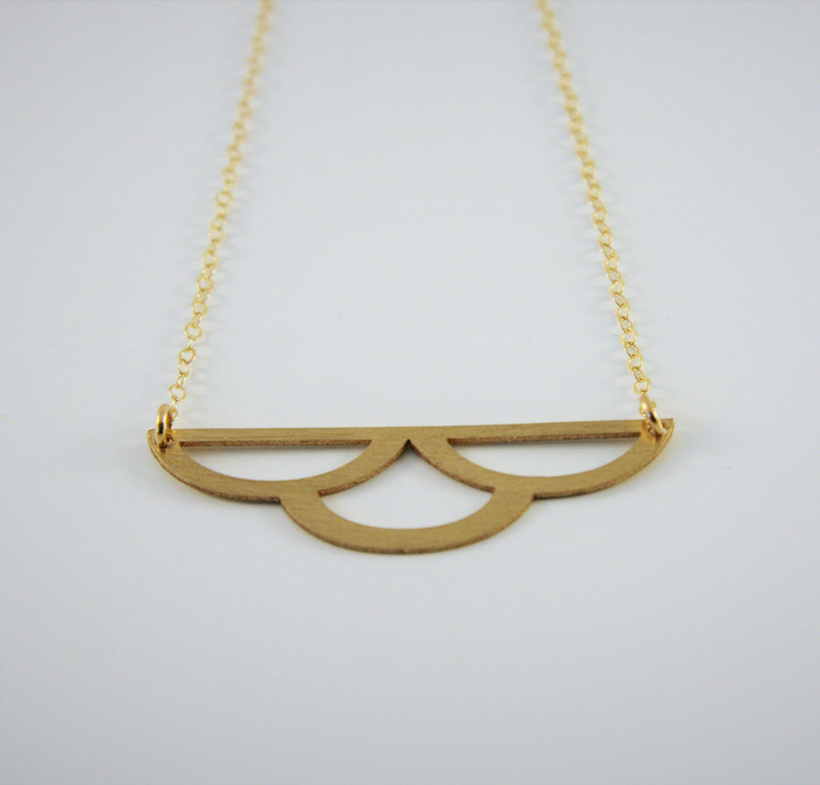 Brass Cloud Design Necklace at alishamerrickart