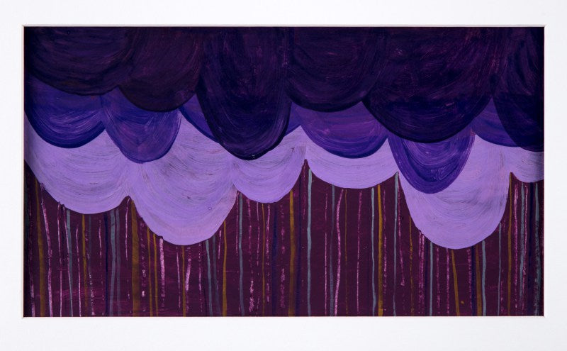 Acrylic Painting titled Purple Rain at alishamerrickart Original