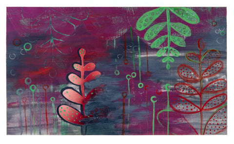 Original painting in acrylic at alishamerrickart Titled Red Fern