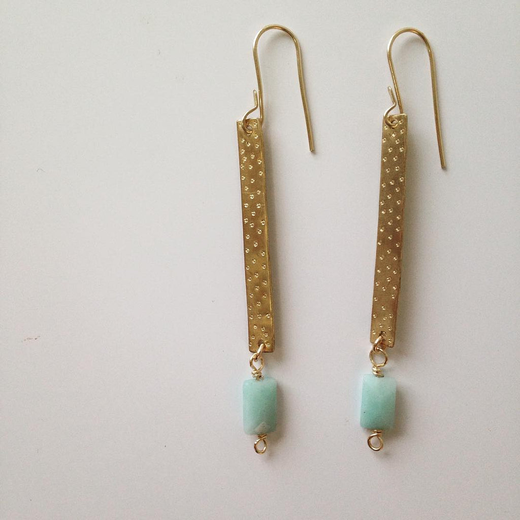 Dot and Line Earrings at alishamerrickart