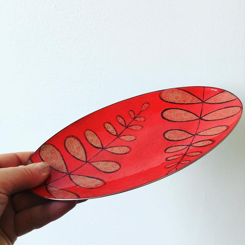Fern Design Enameled Bowl at alishamerrickart