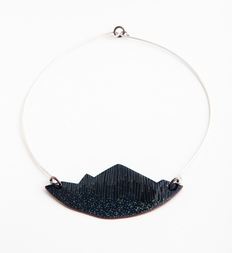 Glass Enamel Mountain Landscape Necklace at alishamerrickart