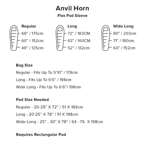 Anvil Horn 45 Size Chart